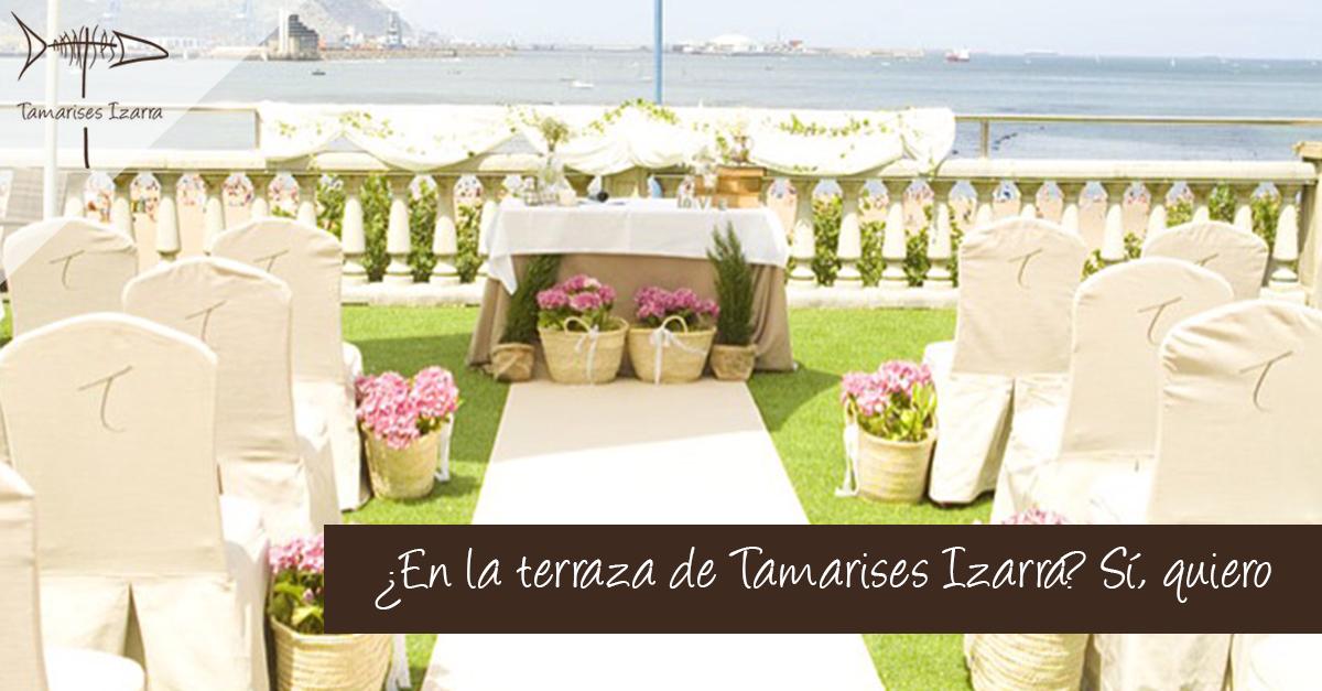 En la terraza de Taramises Izarra