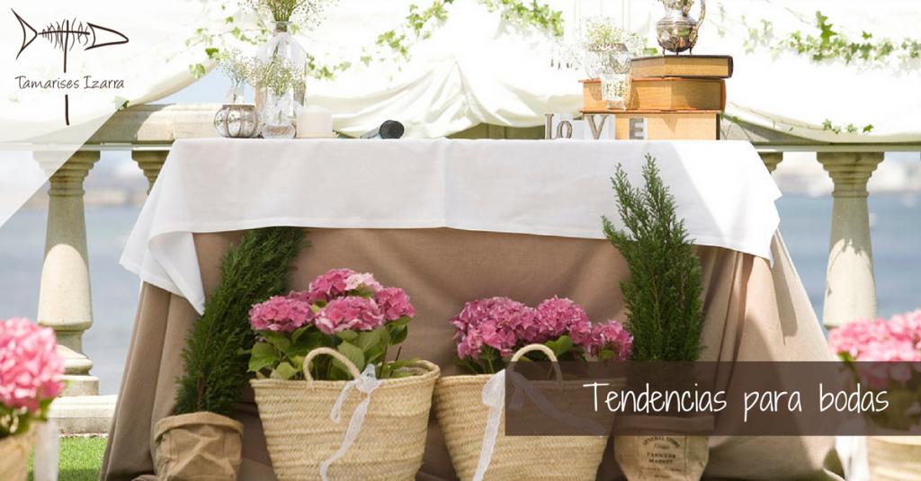 Tendencias para bodas